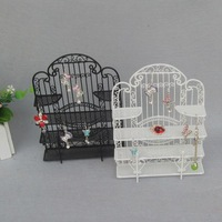Home decor delicate craft Fashion small gift earrings rack jewelry holder iron mini furniture bookshelf display rack