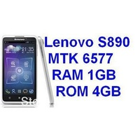 "In Stock New Arrival Original Lenovo S890 Android 4.0 MTK6577 Dual-core 1.2G 3G 5.0""QHD Capacitive Screen"