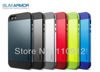 2013 Hot New Arrival! Multi color Free Shipping Style SLIM ARMOR SPIGEN SGP Case Color Cover For Apple iPhone5 iPhone 5 5G