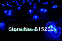 5pcs 10m Monochrome or Color LED love Flashing lights for Valentine's Day/Christmas Holiday decorations Free shipping,wholesale