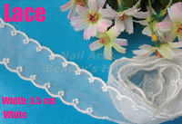 10 meters/ lot  3.5cm width white lace for fabric warp knitting DIY Garment Accessories free shipping#1746