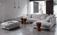White sofa fabric French design 2013 new Living Room L shaped Fabric Corner modern fabric sofa fabric luxury F9105