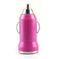 Mini USB Car Charger Head Vehicle Power Adapter for Iphone Ipod Touch USB Device Pink