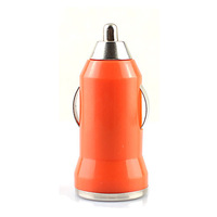 Mini USB Car Charger Head Vehicle Power Adapter for Iphone Ipod Touch USB Device Orange