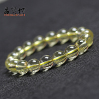 Natural yellow crystal bracelet lemon yellow crystal bracelet lucky male Women transhipped