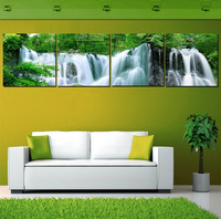 Free Shipping 4 piece abstract art  Modern Picture Great The waterfall decoration home beautiful art Painting on Canvas Prints