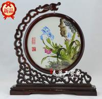 Crafts Decorative Flowers Elegant clivia 100% pure silk pure manual embroidery
