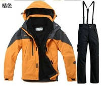 2013 Outdoor Emergency underwear men ski suit suit suit warm wind folding removable fleece climbing