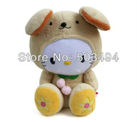 HELLO KITTY STUFFED DOLL BROWN COLOR 45cm KT SANRIO DOLL FREE SHIPPING