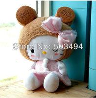 Hello kitty PLUSH DOLL 45CM SIZE wholesale Cute KT dolls 20pcs/lot free shipping