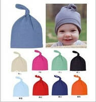 Wholesale 10pcs/lot Mixed Color Newborn Baby Hat,Infant Baby Cotton Beanies Headwear 0-6Month Free Shipping