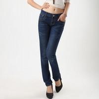 Autumn women's jeans trousers for women plus size slim pencil pants