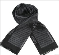 2013 new winter men's warm thick black cashmere scarf free shipping