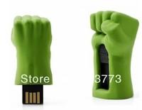 New  metal 10pcs/lot  avengers hulk hand usb 2.0 memory pen drive flash stick thumb disk gift