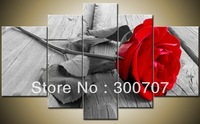 handmade oil painting 100% Free shipping Abstract Modern Wall Deco Oil Painting on Canvas:Red Rose (no framed)