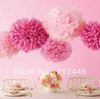 Free Shipping 10pcs 18cm(7inch) tissue paper poms flower ball  Wedding Party Decor Craft Paper Flower For Wedding Decoration