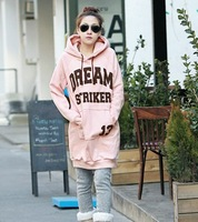Lady's fleece in long loose letters hooded fleece
