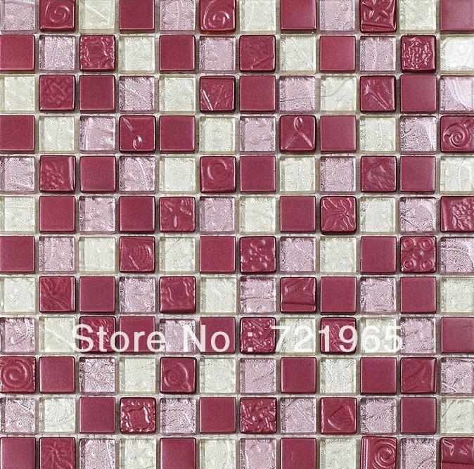 tile kitchen backsplash interior wall tiles cgmt124 purple glass
