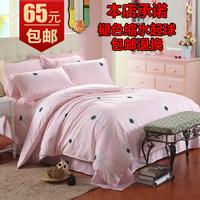 Fedex Free Shipping Piece set cotton 100% cotton princess rustic double velvet bedding