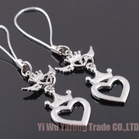10 sets/lot Hot sale lovers couple keychain phone chian bag chian free shipping