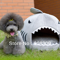 NEW ! Cute Luxury Shark Mouth house for pet dog cat, Removable & Washable, designer dog bed, kennel, nest, free shipping