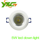 Factory  newest  LED high power Recessed Ceiling Downlight COB light 3W 5W 7W 10W white aluminum+powersupply free shipping(China (Mainland))