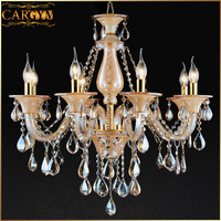 Card fashion lamp crystal lamp pendant light luxury gold vintage living room lights lamps