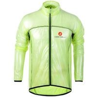 FREE SHIPPING, waterproof cycling jersey, castelli raincoat. dropping is ok.