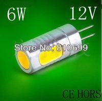 Free shipping, G4 base, white/warm white (3000-6500 k) 6W Led lamp. Quality assurance 2PCS/LOT