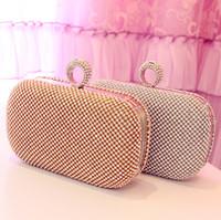 New Latest Full bling rhinestone fashion   day clutch      banquet  2013  Evening Handbag