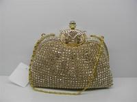 New Latest Full rhinestone owl    women's  fashion banquet  princess   Evening Handbag