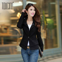 Toucino 2013 autumn women's female blazer outerwear spring and autumn women's elastic slim suit