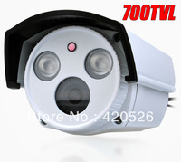 "Promotion 700TVL 1/3"" Sony CCD array LEDs Color Night Vision Indoor/Outdoor security IR CCTV Camera free shipping"