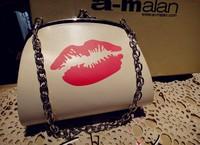 New Latest 1114 red lips  women's  shoulder  fashion small cross-body  internality day clutch  small  Evening Handbag