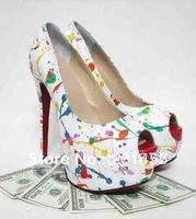 Wholesale 2013 Sexy Ladies Classic Red Bottom Platform Fish Head High Heels Brand Pumps Shoes 16cm
