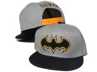 2013 new gray/black batman logo kids adjustable baseball snapback hats and caps for children sports hip pop cap boys sun hat