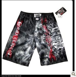 Men MMA Shorts Muay Thai Boxing Trunks Bodybuilding Brazilian JiuJitsu Fight Wear Free Shipping(China (Mainland))