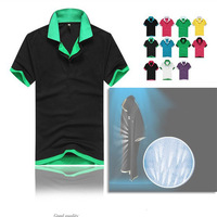 Free delivery man short sleeved T-shirt, double collar, handsome , 8 color, stitching coat, 6 dimensions