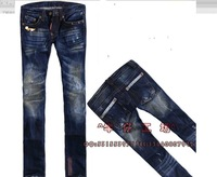 Free shipping 2013 NEW WOmen  fashion brand Dsq Frazzle  Yellow metal LOGO jeans top quality best price