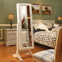 Ceriphs white multifunctional tofts mirror jewelry storage cabinet bedroom furniture storage rack