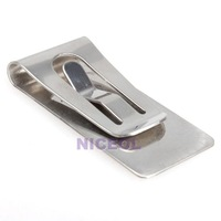 NI Slim Money Wallet Clip Clamp Card Stainless Steel Credit Business Card Holder
