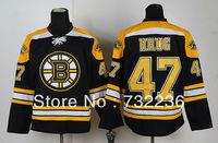 2013 men's Ice hockey Jersey Boston Bruins #47 Torey Krug black jersey cheap good quality size M-3XL