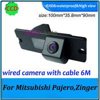 For Mitsubishi Pajero/Zinger backup camera CCD 1/3 Night Vision Rear View camera   waterproof Effective Pixels 728*582
