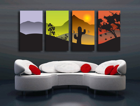 Peinture moderne design decoration murale peinture encadre for Helline decoration murale