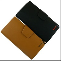 Hot selling Genuine Leather wallet men's long wallet purse wholesale free shipping