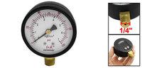 "1/4"" Male Thread Connector Water Pressure Gauge 0-100 Psi Black"