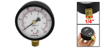 "1/4"" Male Thread Connector Water Pressure Gauge 0-100 Psi Black"