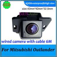 Pixel 728*582 backup camera for Mitsubishi Outlander car rear camera waterproof 170 degree CCD Car parking Camera
