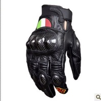 For Genuine special commemorative edition of 46 AGV gloves / leather gloves carbon fiber / short gloves / motorcycle gloves /