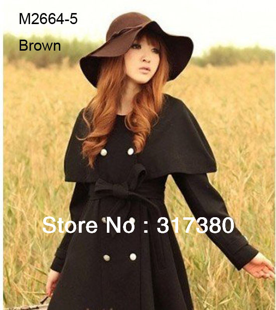 Wholesale 6pcs 2014 Stylish Women Winter Wide Brim Wool Hats Ladies